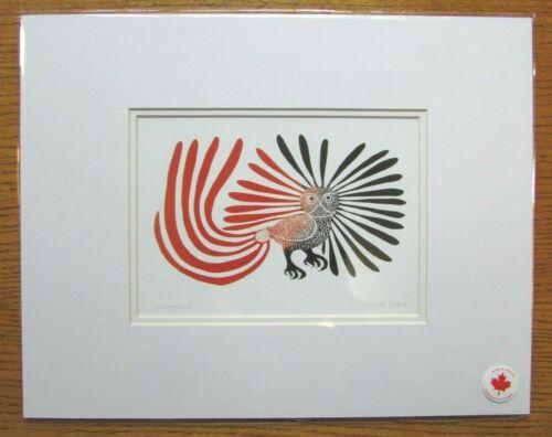 "ENCHANTED OWL 11"" x 14"" - art print by Inuit artist Kenojuak Ashevak"