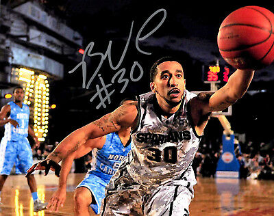 Brandon Wood signed auto photo Michigan State basketball Carrier Classic MSU d