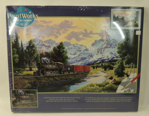 VTG NIP Dimensions Paint Works Paint By Numbers 91096 Northern Rails Train R x R
