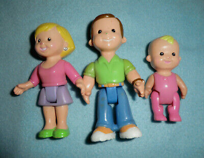 Fisher Price My First Dollhouse Family - Mom Dad Baby
