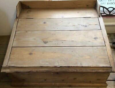 LARGE OLD PINE CLERK WRITING SLOPE WOODEN