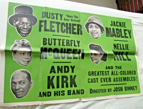 "Revue Poster - 1940s - ""Greatest All-Colored cast..."" - Moms Mabley ++++"