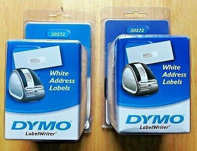 Dymo White Address Labels 30572 1-18x3-12 2 Two Sealed Box 1040 Labels Total