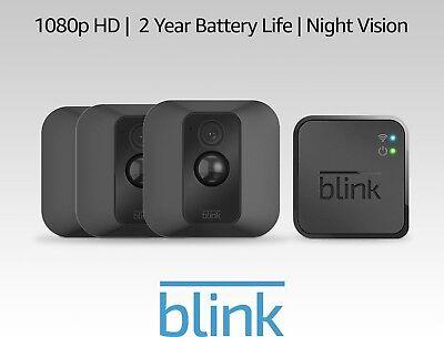 Blink XT Home Wireless Security Camera System 3 (Three) Camera Kit *Brand New*