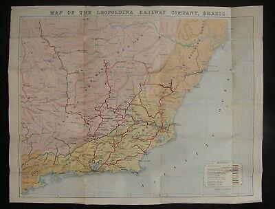 "c.1910 ""Map of the Leopoldina Railway Company, Brazil"" by Waterlow & Sons"