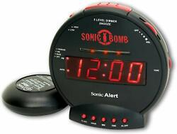 Sonic Alert Digital Alarm Clock with Battery Backup - Black