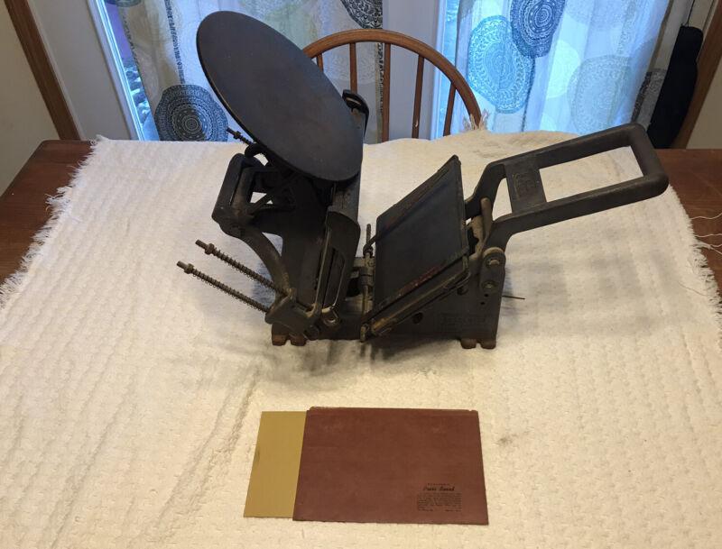 Excelsior Letter Press Kelsey And Co Size 5x8, Model U