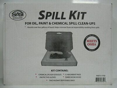 SAS 7750 SPILL KIT FOR OIL, PAINT & CHEMICAL SPILL CLEAN-UPS UPC:781311077508