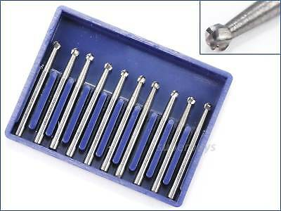 - 10pcs FG4 Tungsten Carbide Dental Lab Drill Steel Burr Burs Fissure Cross Cut