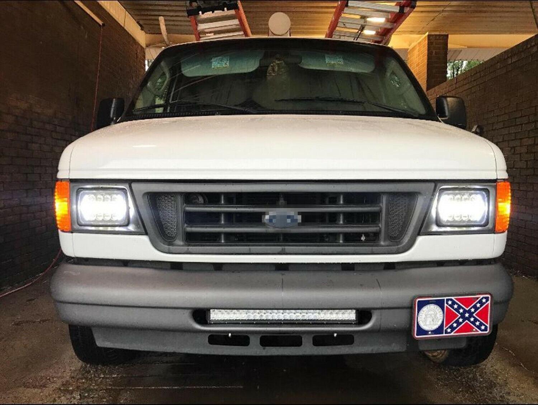 Brightest 105W Osram 5x7'' 7x6'' LED Headlight Hi-Lo Beam White Angel Eyes  Halo DRL For Jeep Cherokee XJ YJ H6054 H5054