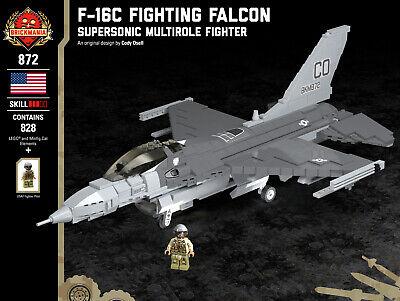 Brickmania F-16C Fighting Falcon Multirole Fighter, Model #BKM872, LEGO Elements