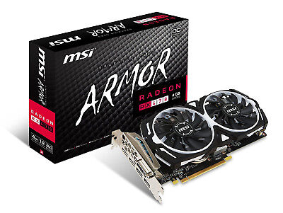 MSI Gaming Radeon RX 470 GDDR5 4GB Crossfire FinFET DirectX 12 Graphics Card