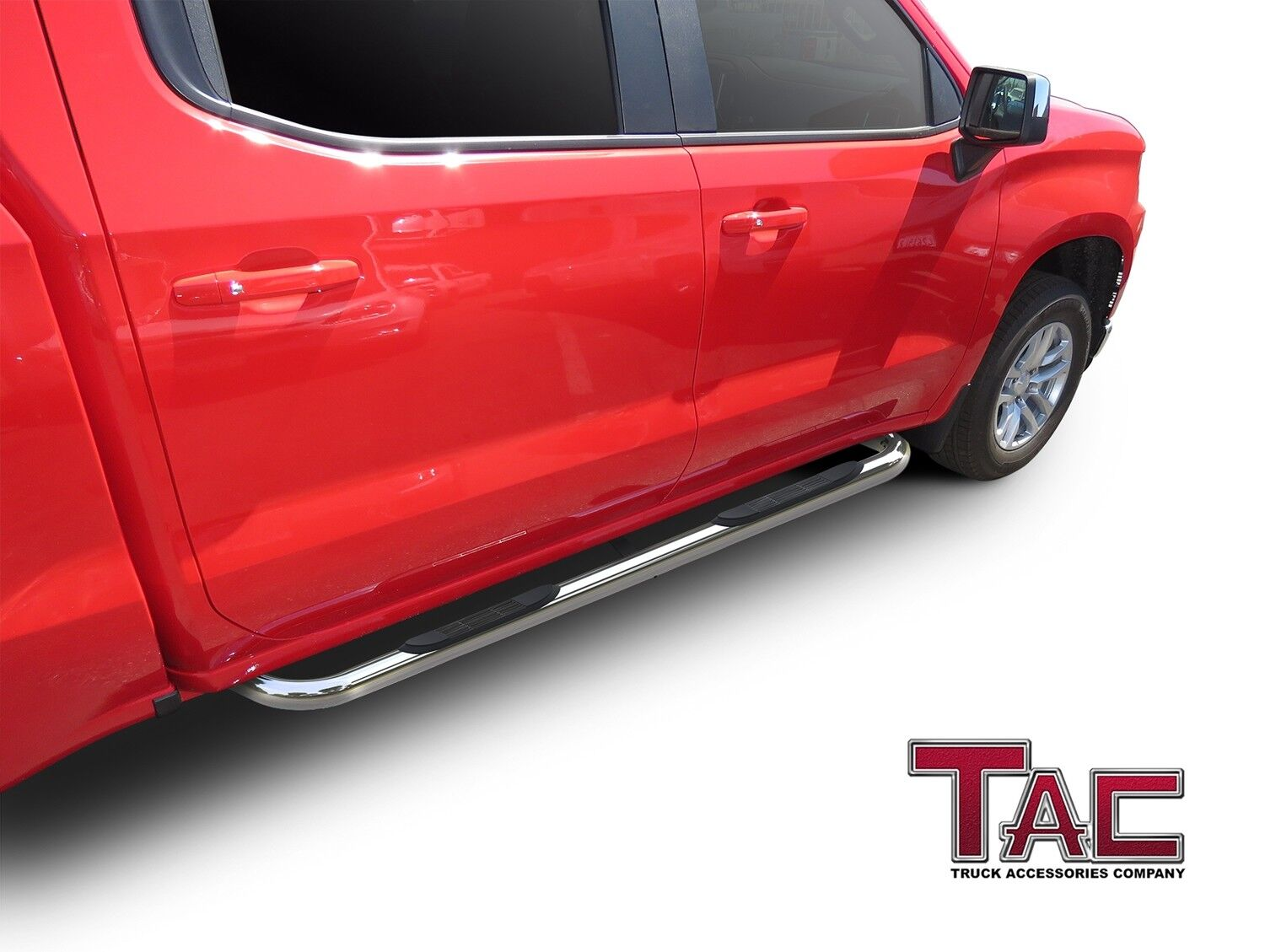 Chevy Silverado Side Steps >> Details About 3 Chrome Side Steps Nerf Bars For 2019 Chevy Silverado Gmc Sierra 1500 Crew Cab