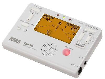 KORG TM-60 Multi Instrumenten- Stimmgerät / Tuner und Metronom Farbe: Weiss (Korg Stimmgerät Metronom)