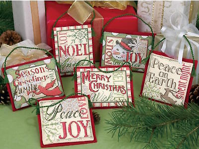 Dimensions 8827 Christmas Sayings Ornaments Counted Cross Stitch - Cross Christmas Ornaments