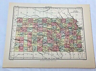 circa 1880s map of  kansas ( adam & charles black )