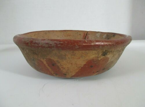 Pre-Columbian Decorated Pottery Bowl
