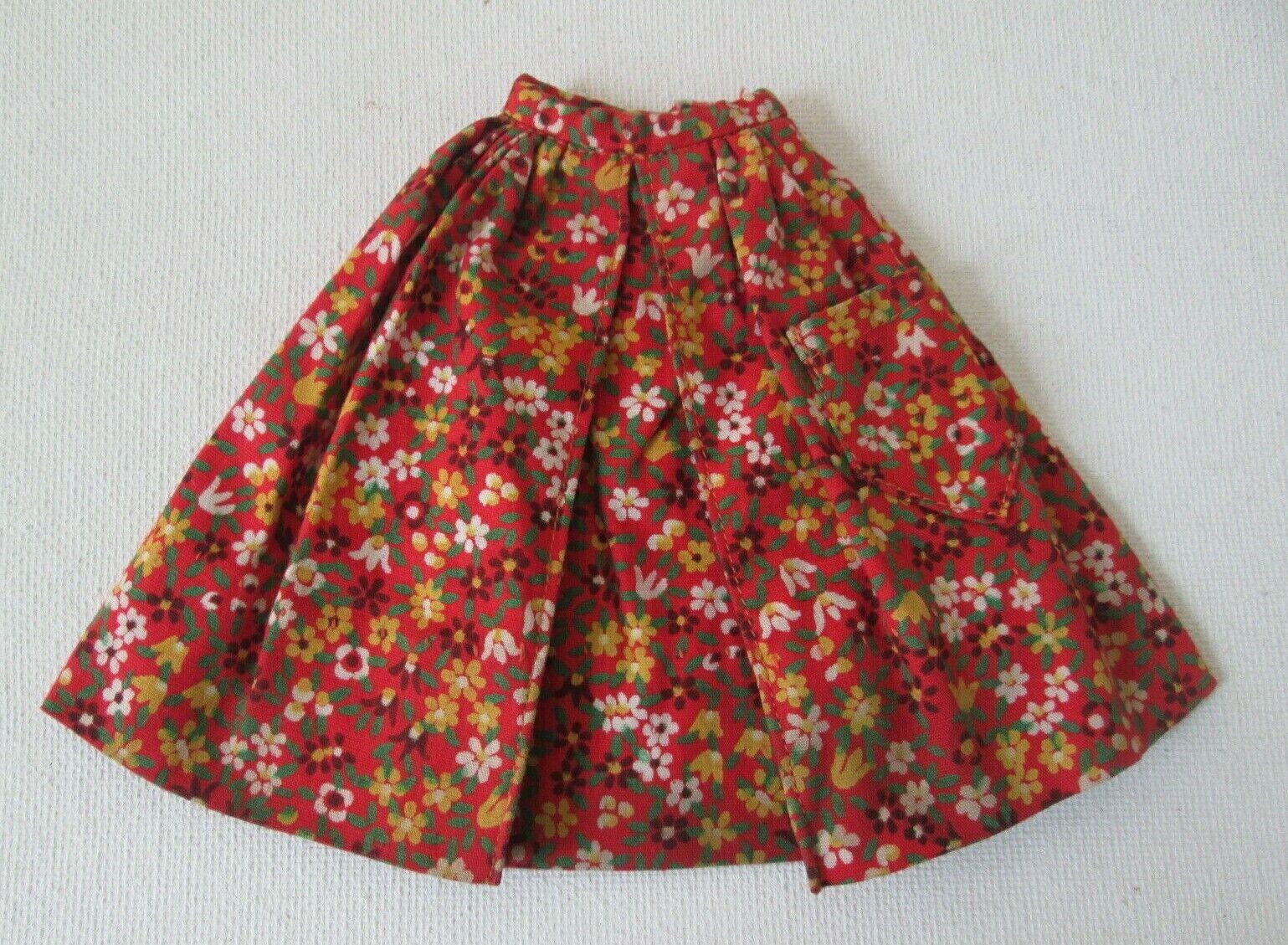 Vintage Barbie 1603 Country Fair Floral Gathered Skirt - $9.39