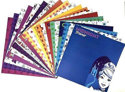 12X12 Scrapbook Paper Lot 20 Sheets Disney Princess Prints Card Making L74 Disney Princess 12x12 Paper