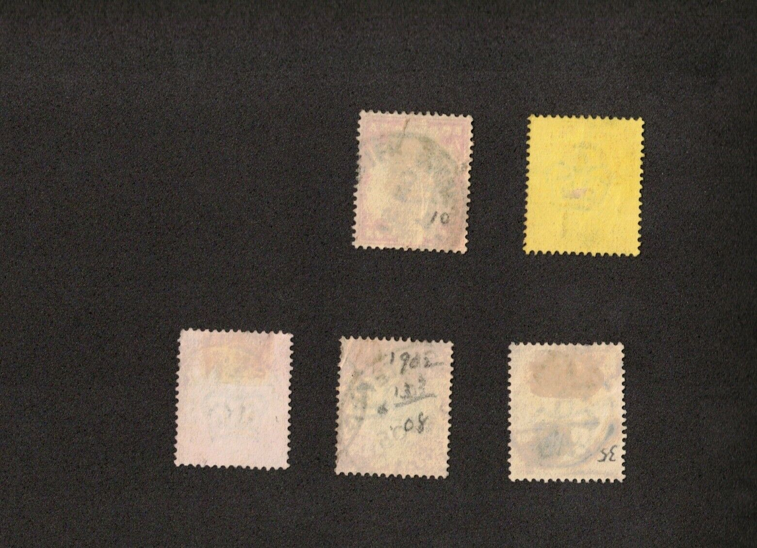 1902-11 Great Britain Stamps Sc# 132, 133, 138