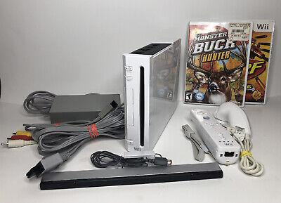 Nintendo Wii White Console RVL-001 (GameCube Comp) Complete Bundle 10 Games