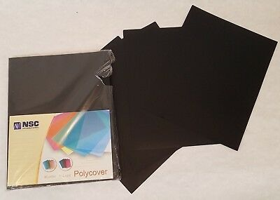 Binding Covers - Black 12 Mil Sand Poly 222mm X 286mm 50 Pack Free Shipping New