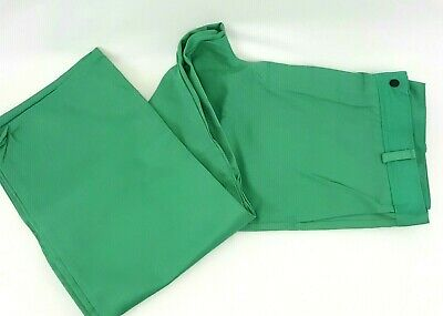 Welding Auto Shop Grilling Work Cape and Removable Bib Light Green Snap Medium