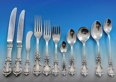 Burgundy by Reed & Barton Sterling Silver Flatware Set 12 Service 150 pcs (Burgundy Sterling Silver Flatware)