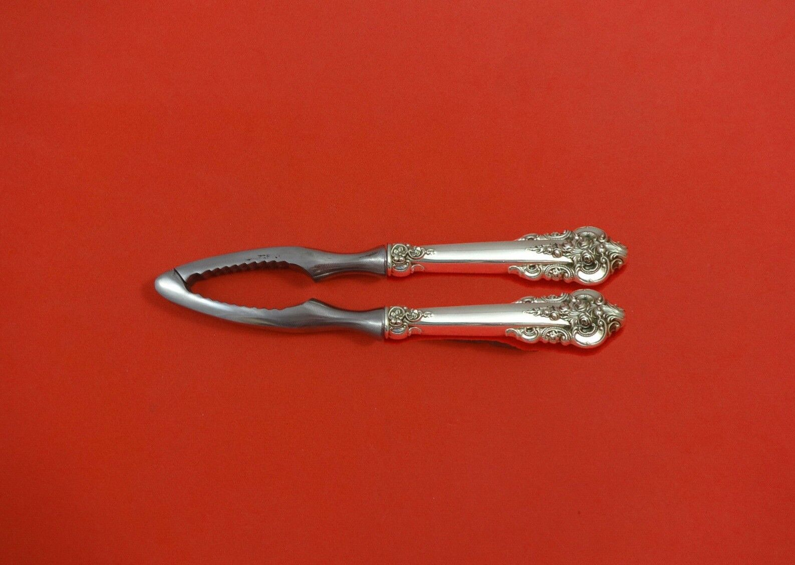 """Grande Baroque by Wallace Sterling Silver Pastry Tongs 9 7//8/"""" HHWS Custom Made"""