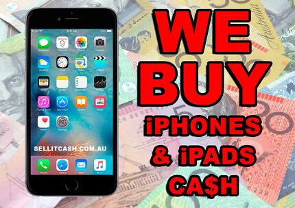 Wanted: Buy CASH used or broken IPHONE , IPAD Highest Price any condition