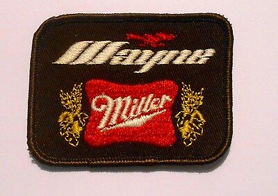 "Miller Beer Patch 3-1/8"" inches Mayne Vintage"