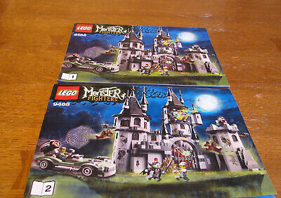 """LEGO MONSTER FIGHTERS  9468 INSTRUCTION BOOK 1 & 2  ONLY  """" VAMPYRE CASTLE  """""""