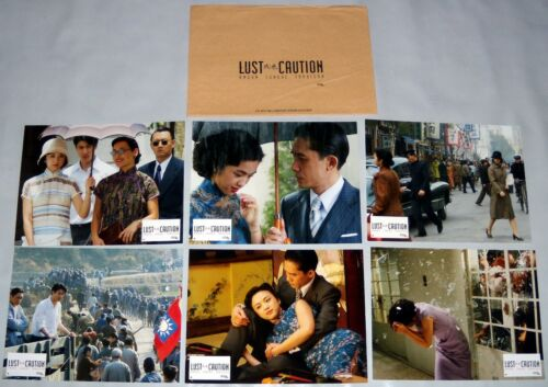 LUST CAUTiON 色戒 Ang Lee China Tony Leung 梁朝偉 Tang Wei 湯唯 6 FRENCH LOBBY CARDs