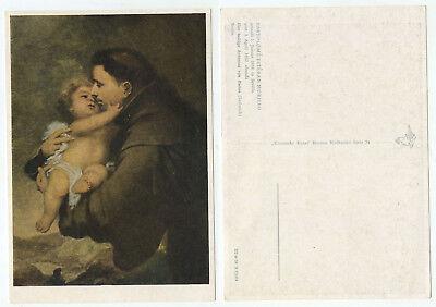 10632 - Murillo: Der Heilige Antonius von Padua (Detail) - alte Ansichtskarte