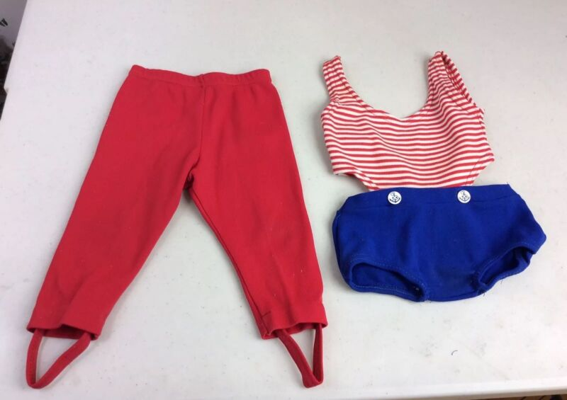 Vintage Nautical French Baby Swimsuit & Stirrup Pants 12 months