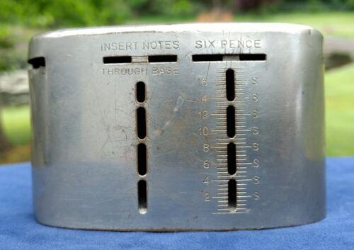 "Savings Bank of Paisley English ""Pence"" ""Shilling"" Coin Slots Vintage 1921 UK"