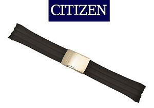 Citizen CB0020-09E original watch band 23mm BLACK rubber strap 59-S52108