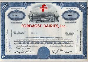 Foremost-Dairies-Inc-Stock-Certificate-Milk-Farming-Cheese