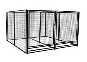 Deluxe Outdoor Welded Panel Dog Kennel Run Double