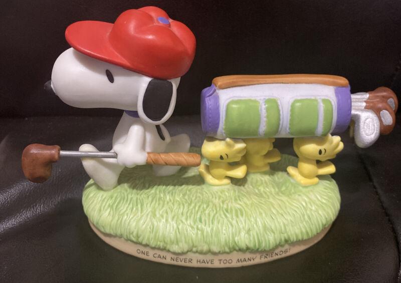 2000 On The Course Snoopy Golf Woodstock Peanuts Gallery Hallmark Figurine EUC