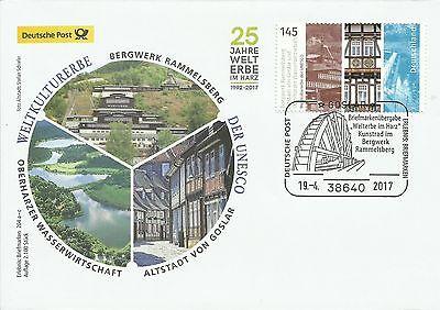 Sonderbeleg Deutsche Post AG - UNESCO Welterbe Rammelsberg  204 b 19.04.2017
