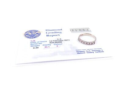 Yellow Gold Diamond Eternity Ring 18 Carat 1992 HM With Certificate