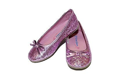 PINK TODDLER/LITTLE GIRL GLITTER SPARKLE BALLET FLATS DRESS PARTY SHOES