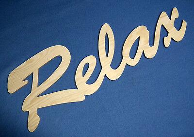 Große Holz Buchstaben Relax 61 cm Schriftzug Wandtattoo Spruch Deko Schrift ()