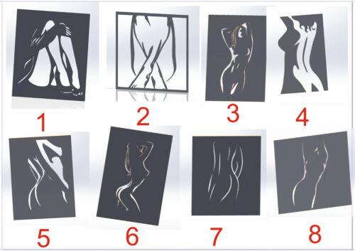 20 DXF File CNC g-code Industrial Laser Cut WOMEN Nr.1 PANEL