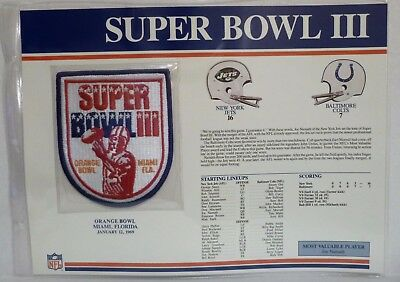 Willabee Ward Nfl Super Bowl Iii Jets Colts Patch On Fact Stat Card Rare