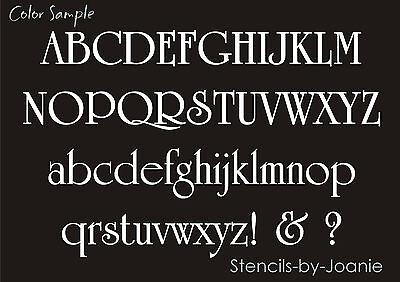 """Vintage Font Stencil Alphabet 3"""" Caps & Lower Case Letter..."""