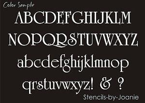 Vintage font Stencil Alphabet 3