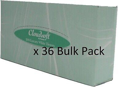 Cloudsoft Bulk Pack Tissues 100 Tissues a box x 36 Boxes Hotel Facial Tissues