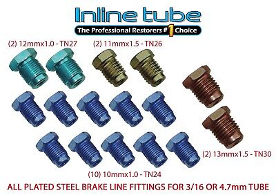 Metric Brake Line Fitting Kit For 3/16